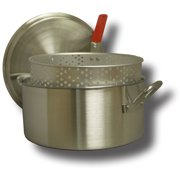 King Kooker #KK14 - 14 qt Aluminum Fry Pan with Basket and Lid