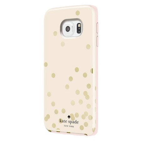 Kate Spade New York Confetti Gold Hybrid Hardshell Case for Samsung Galaxy S6 EDGE G925 - Polka Dots
