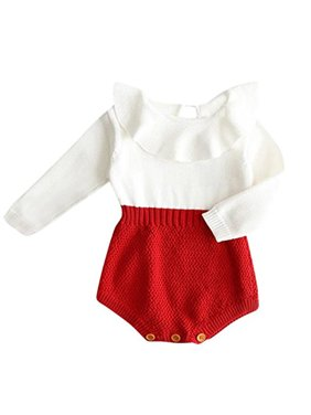 a929b1d6bc Product Image StylesILove Baby Girl Autumn Knitted Ruffle Long Sleeve  Princess Jumpsuit Romper (100/18-