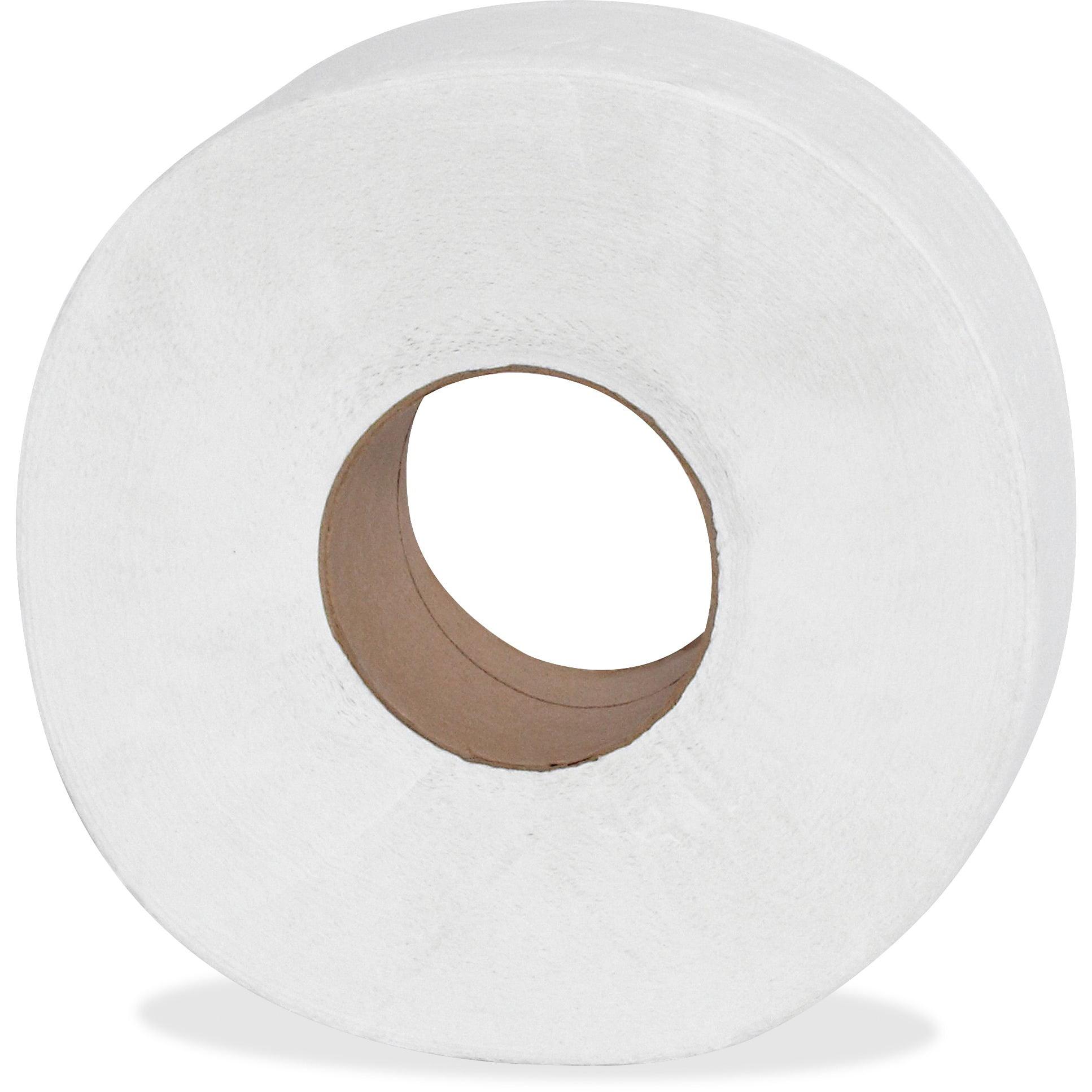 Genuine Joe 2-ply Jumbo Roll Dispnsr Bath Tissue, 2 Ply, 12 pack, GJO2565012 by Genuine Joe