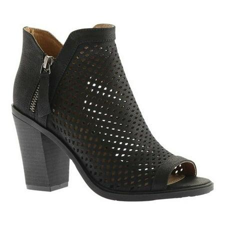 Portland Boot Company Emma Perforated Peep Toe Bootie (Women's) 0eCmDs