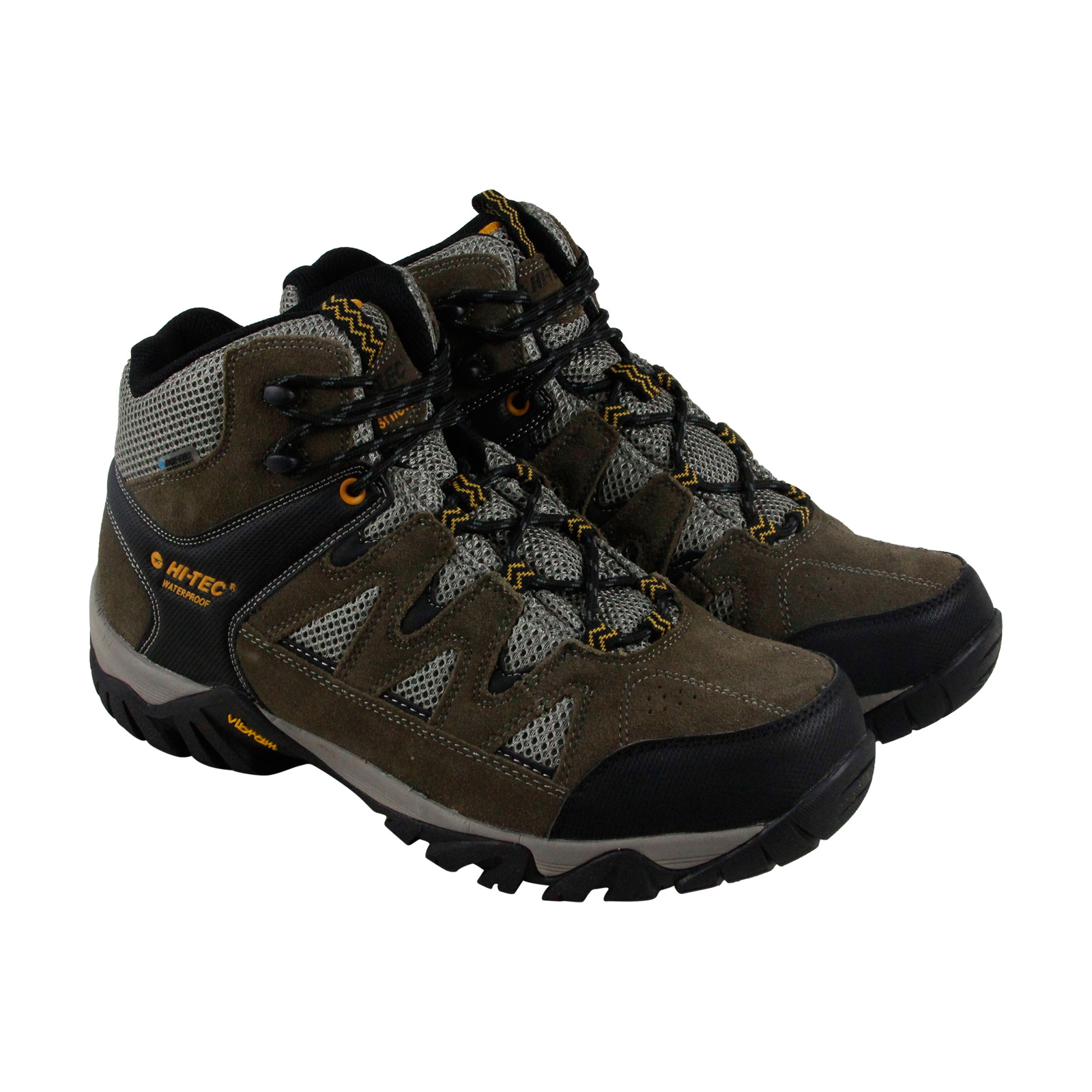 Hi-Tec Sonorous Mid I Wp Mens Gray Mesh & Suede Hiking Lace Up Boots Shoes