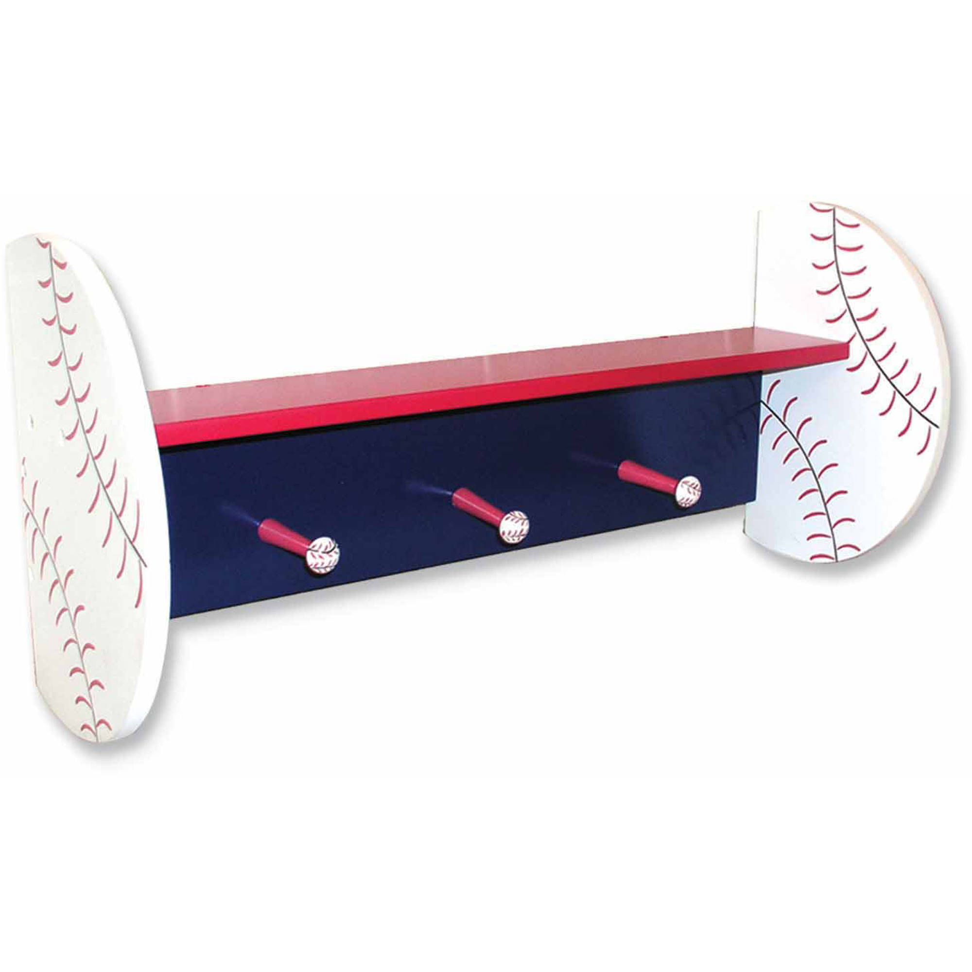 Trend Lab Baseball Shelf with Pegs