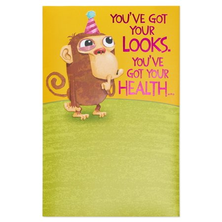 American Greetings Funny Monkey Birthday Card With Pop Up Walmart