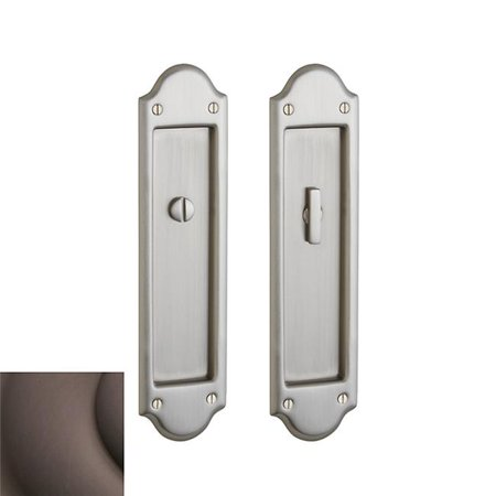 Baldwin PD016112KC Boulder Trim Cut for Cylinder Sliding Door Lock Venetian Bronze Finish