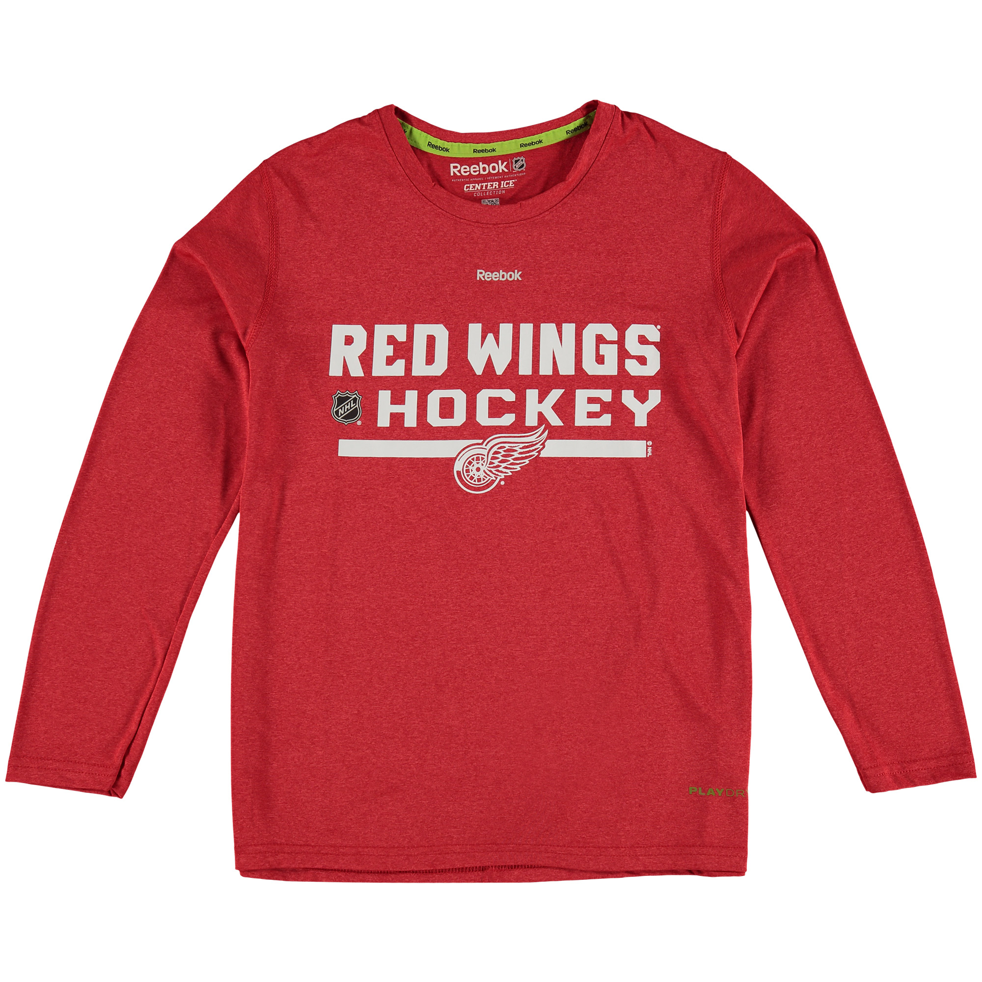 Detroit Red Wings Reebok Youth Authentic Collection Freeze Play Dry Long Sleeve T-Shirt - Red