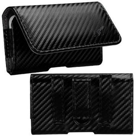 Look Cake - Mundaze Carbon Fiber Look Belt Clip Pouch Case for ZTE Rapido
