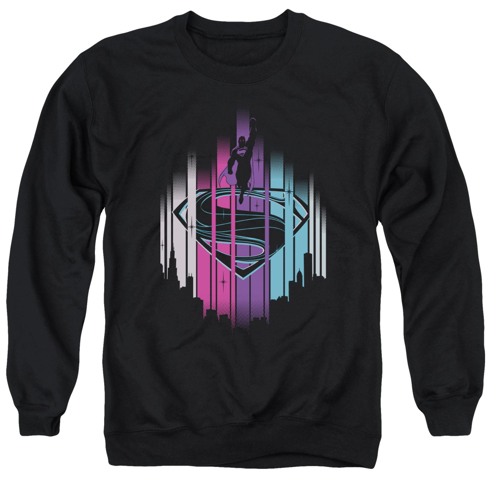 Man Of Steel City Lights Mens Crewneck Sweatshirt
