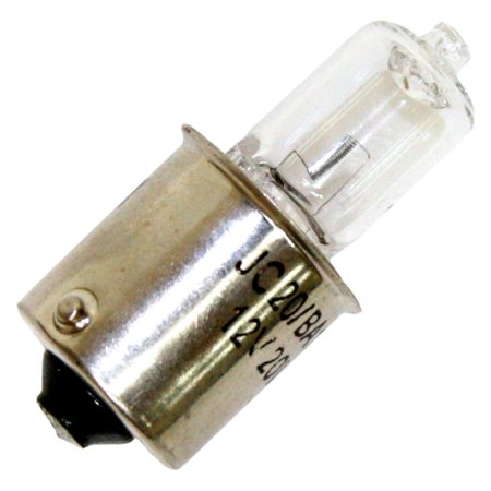Halco 147010 - JC20/BA15S Bayonet Base Single Ended Halogen Light Bulb (Contact Bayonet Ba15s Base Miniature)