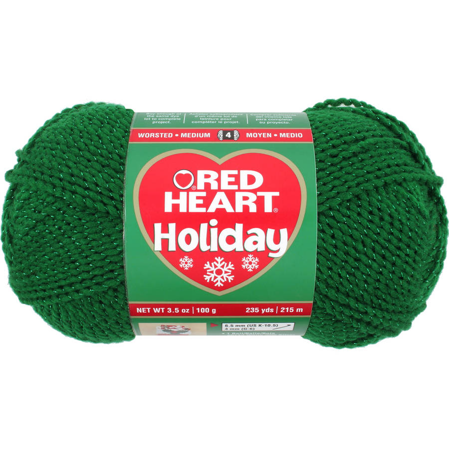 Red Heart Holiday Yarn, Available in Multiple Colors