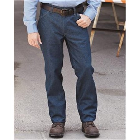 Bulwark B71130270 Flame Resistant Jean-Style Pants, Dark Denim - 30W