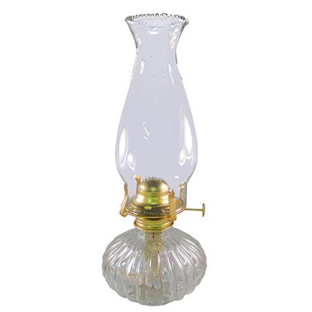 21st Century Products Ellipse Glass Hurricane Oil Lamp