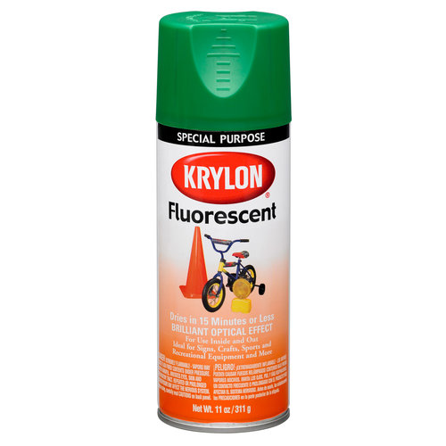 Krylon Fluorescent Paint, Green