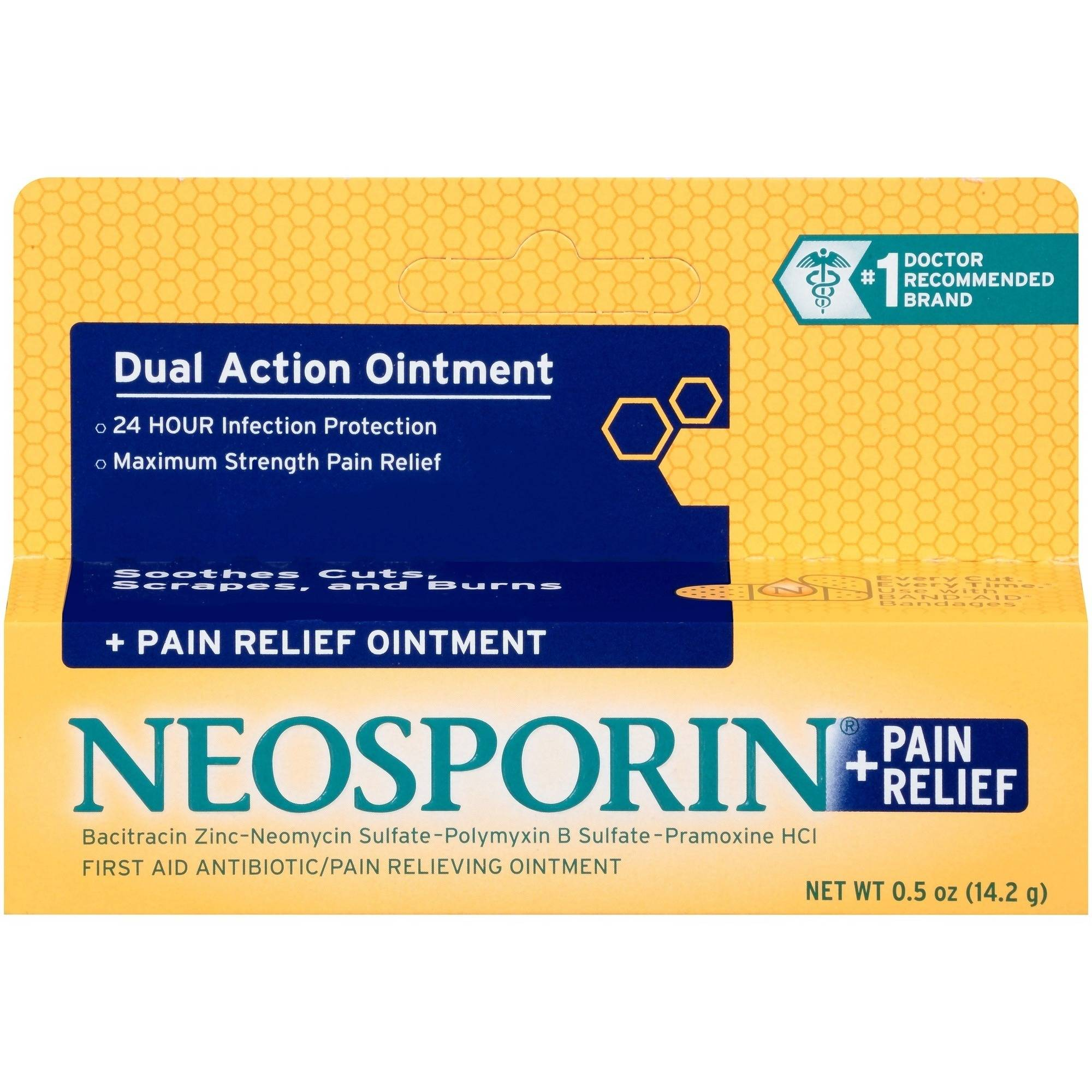 Neosporin Plus Pain Relief First Aid Antibiotic Ointment, 0.5 oz