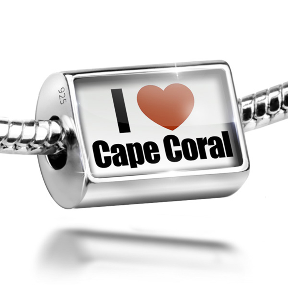 Bead I Love Cape Coral region: Florida, United States Charm Fits All European Bracelets by NEONBLOND