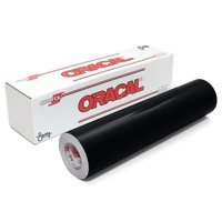 "Oracal 751 Glossy Premium 8 Year Outdoor Cast Vinyl 12"" x 6' - Black"