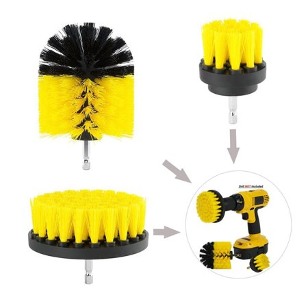 Beaded Tub (BEAD BEE 3Pcs Grout Power Scrubber Cleaning Brush Tub Cleaner Combo Tool Kit)