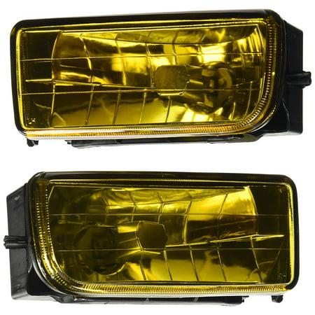 Spec-D Tuning LF-E3692AM-GD Bmw 3-Series M3 E36 Amber Fog Lights Yellow Bumper Lamps Kit (Bmw Fog Lights E36)
