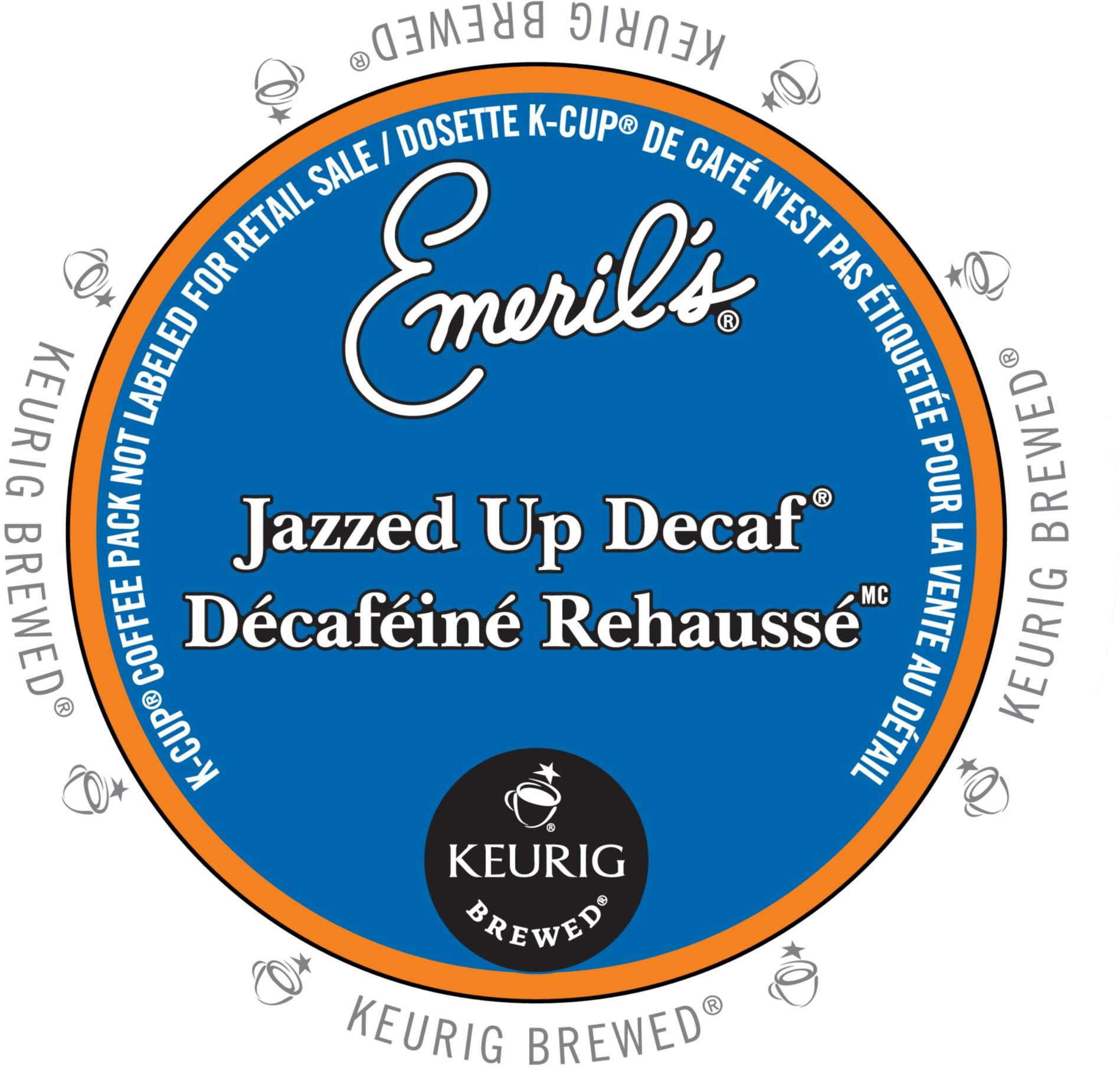 Emeril's Jazzed Up Decaf Coffee, K-Cup Portion Pack for Keurig Brewers (96 Count) (4x16oz)