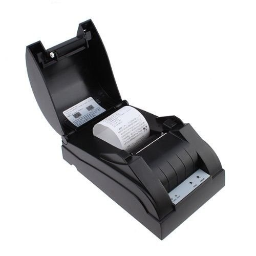 2xhome- USB Professional Thermal Printer for POS System (Black, Paper Width 58mm, Compatible Esc/pos Command, Built-in Data Buffer, High-speed 58mm POS Receipt) for Small Business or Restaurant