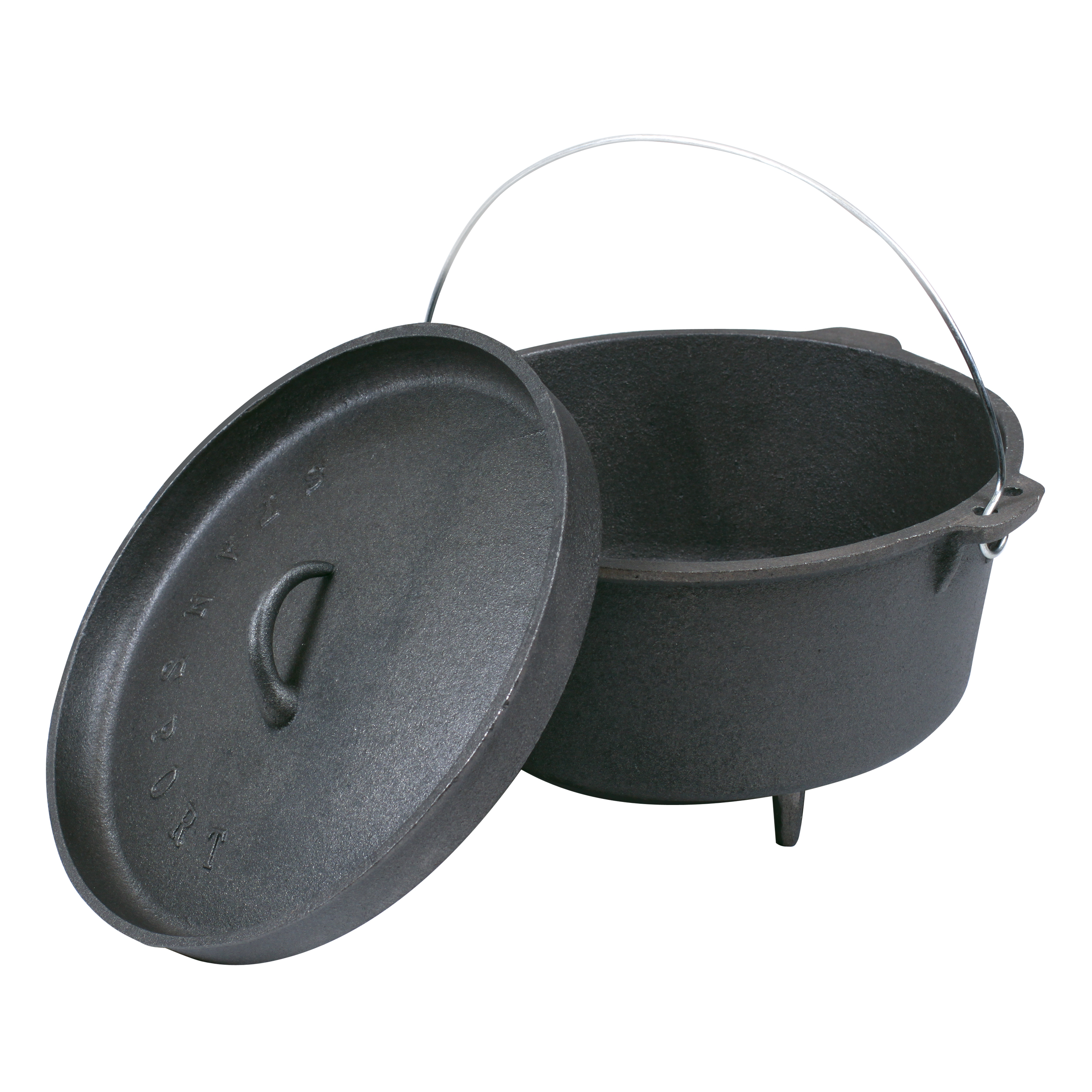 Stansport Cast Iron Dutch Oven 8 Quart Outdoor Camping ...
