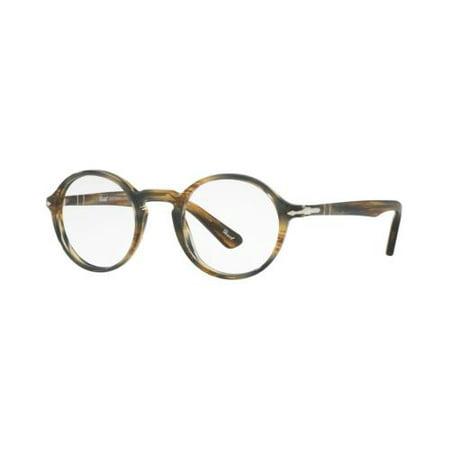 ed97d9b204d9a PERSOL Eyeglasses PO3141V 1049 Striped Brown Grey 48MM - Walmart.com