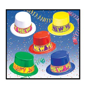 "Club Pack of 25 Colorama ""Happy New Years"" Legacy Party Favor Hats"