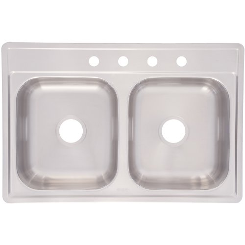 Franke 33X22X8 DOUBLE BOWL STAINLESS STEEL SINK