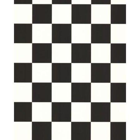 York Wallcoverings BZ9291 Black and White Book Check Wallpaper