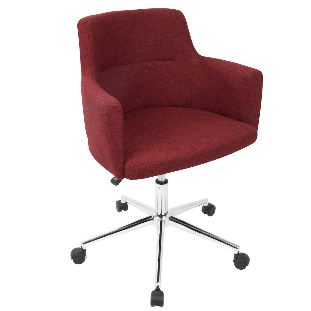 Andrew Contemporary Adjustable Office Chair in Red by Lumisource by