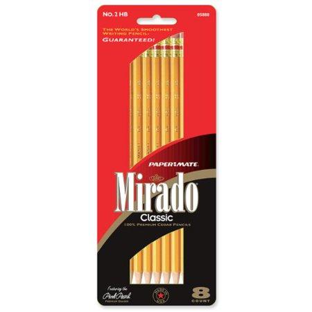 5888 Paper Mate Mirado Classic 5888 Woodcase Pencil - #2 Pencil Grade - Black Lead - Yellow Barrel - 8 / Pack