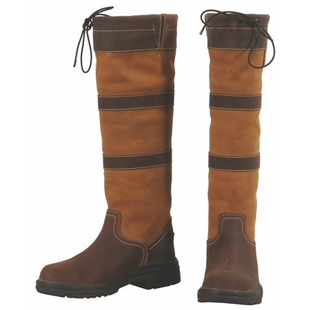 Classic Tall Boot Chocolate (TuffRider Children's Lexington Waterproof Tall Country Boots - Chocolate/Fawn - 3 )