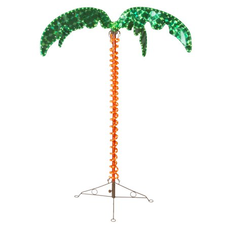 Wintergreen Lighting Holographic Lighted Palm Tree, LED Palm Tree Patio Decor, UV Protected ()