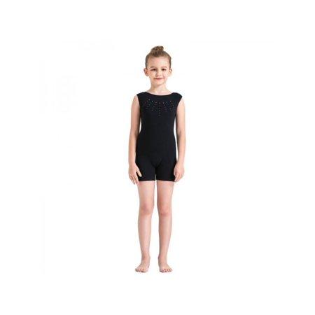 SunshineLLC Kid Girls Gymnastics Leotards Ballet Dance Costume Sparkle Training Dancewear 3-10Y