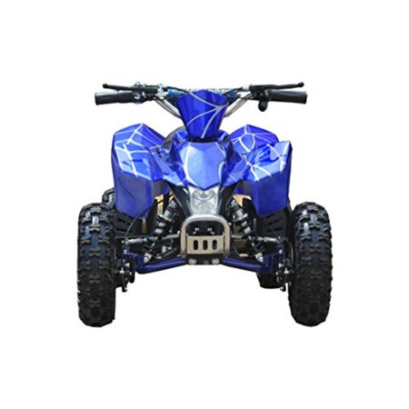 Sahara X Outdoor Kids Children 24V Blue Mini Quad ATV Dirt Motor Bike Electric Battery Powered