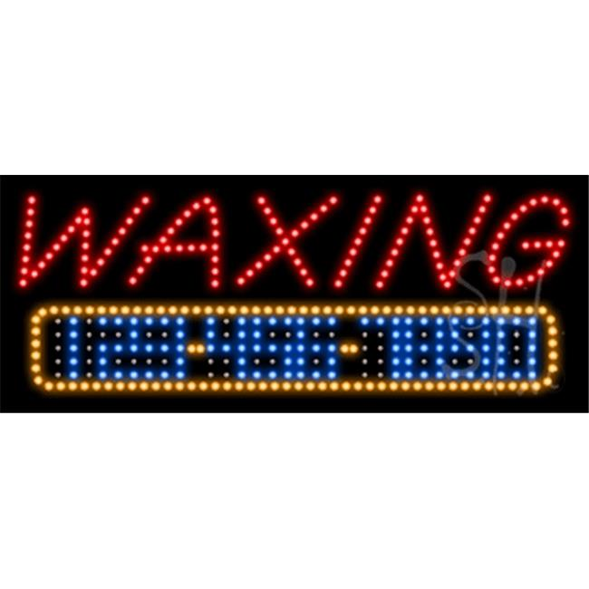The Sign Store L100-10433-outdoor Waxing Animated Outdoor LED Sign, 13 x 32 x 3. 5 inch