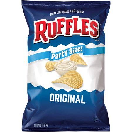Ruffles Party Size Original Potato Chips, 14.5 (Ruffles Oven Baked Cheddar & Sour Cream)