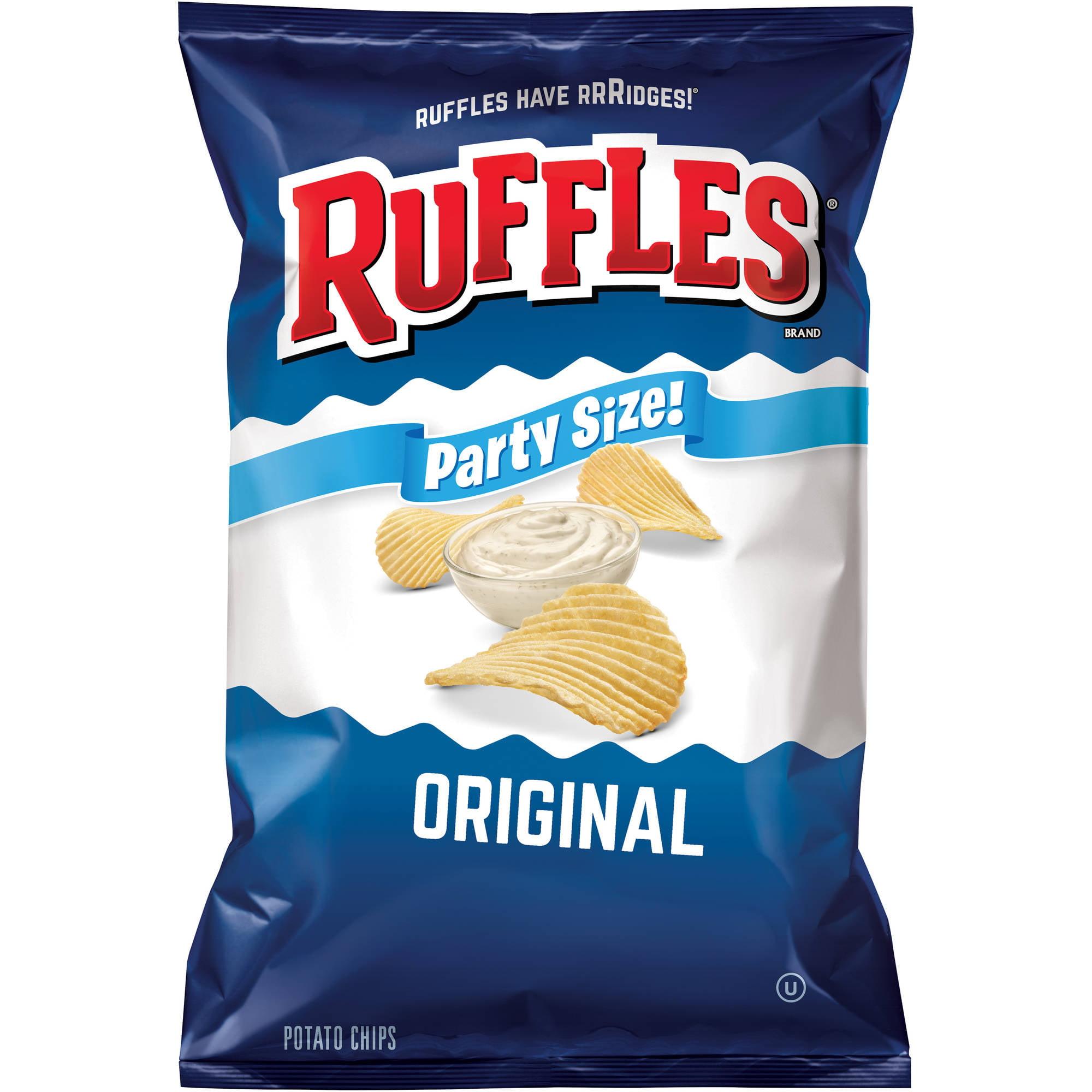 Ruffles Party Size Original Potato Chips, 14.5 Oz.
