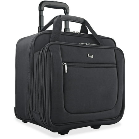 - Solo, USLPT1364, US Luggage Classic Rolling Laptop Portfolio Case, 1, Black