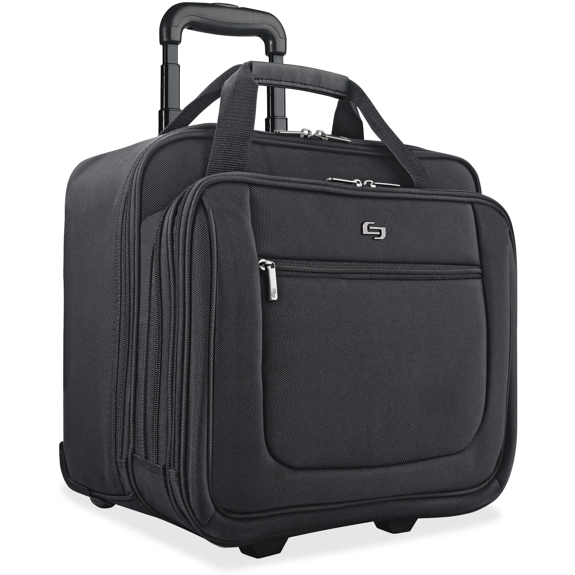 Solo, USLPT1364, US Luggage Classic Rolling Laptop Portfolio Case, 1, Black