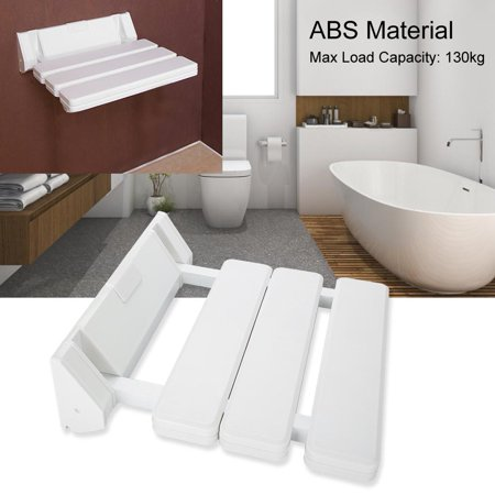 Wall Mounted Shower Seat Ejoyous Drop-leaf Shower Seat Foldable Bathroom Bench for Home Sauna Room Use