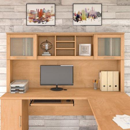 Bush L Shaped Desk With Hutch Carbon Fiber Desk Accessories