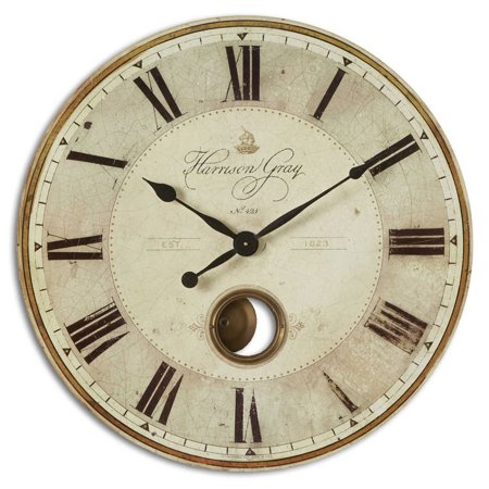 Harrison Gray 30-Inch Wall Clock b y Timeworks (Harrison Gray Clock)
