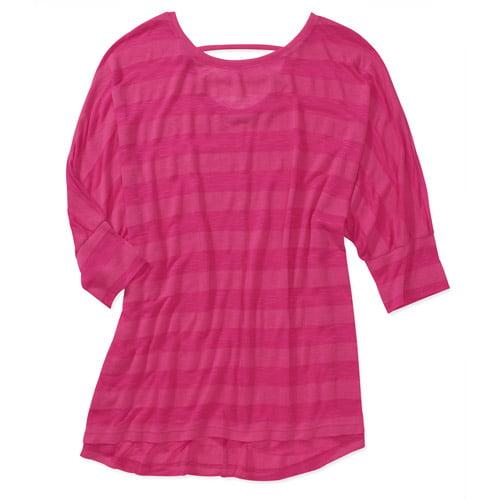 Faded Glory Women's Plus-Size Shadow Stripe Dolman Top