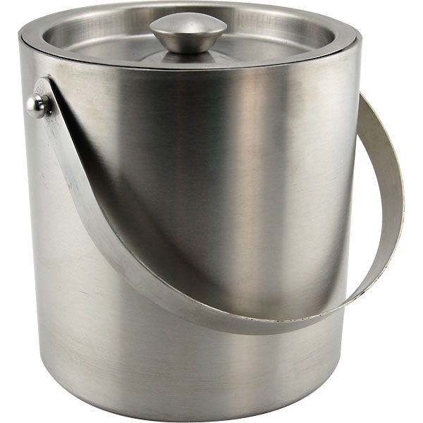 Behind The Bar Stainless Steel Double Walled Ice Bucket 3 Quarts by KegWorks