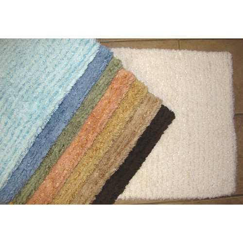 American Mills Solid Stripe Cotton Bath Mat