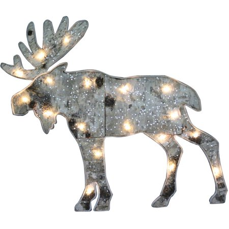 holiday time christmas lights 18 light up birch moose hanging decor 18