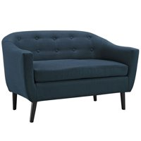 Modway Wit Fabric Loveseat in Azure