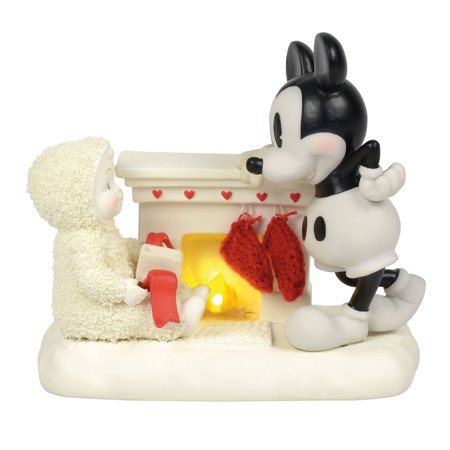 Halloween Mantel Decor Pinterest (Dept 56 Snowbabies 6000828 At the Mantel with Mickey)