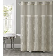 Hookless Tan Palm Leaves Polyester Shower Curtain